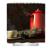 Iguana Coffee Shower Curtain