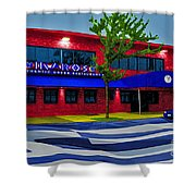 Ikaros Restaurant Baltimore Shower Curtain