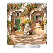 Il Cortile Shower Curtain by Guido Borelli