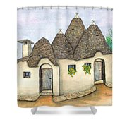 Il Trullo Alberobello Shower Curtain