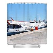 Ilida II Hydrofoil At Kerkira Shower Curtain