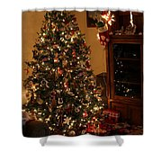 I'll Be Home For Christmas Shower Curtain