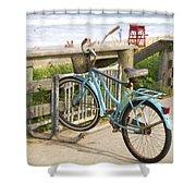 Ill Get My Bike Shower Curtain
