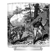 Illegal Prospecting, 1879 Shower Curtain