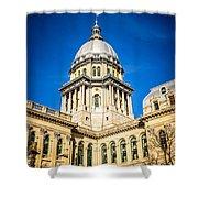 Illinois State Capitol In Springfield Illinois Shower Curtain