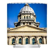 Illinois State Capitol In Springfield Shower Curtain