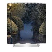 Illumiinated Victorian Street Light Shower Curtain