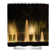 Illuminated Dancing Fountains Shower Curtain