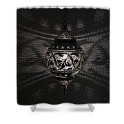 Illuminated Hanging Light Fixture Shower Curtain