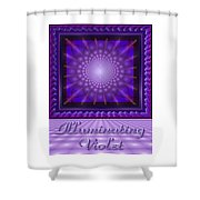 Illuminating Violet Shower Curtain