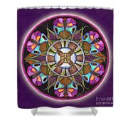 Illusion Of Self Mandala Shower Curtain
