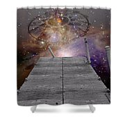 Illusion Of Time Shower Curtain