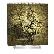 Illusion Tree Shower Curtain