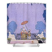 Illustration From A Book Of Fairy Tales Shower Curtain