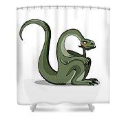 Illustration Of A Brontosaurus Thinking Shower Curtain