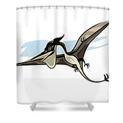 Illustration Of A Pteranodon Dinosaur Shower Curtain