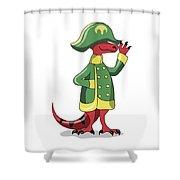 Illustration Of A Tyrannosaur Rex Shower Curtain