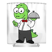 Illustration Of A Tyrannosaurus Rex Shower Curtain