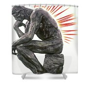 Illustration Of Back Pain Shower Curtain