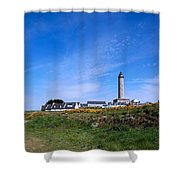 Ils De Batz Lighthouse Shower Curtain