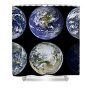 Image Comparison Of Iconic Views Shower Curtain