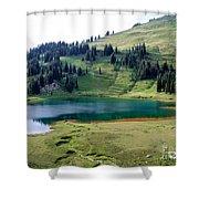 Image Lake  Shower Curtain