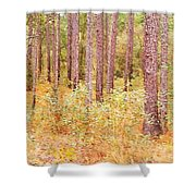 Imaginary Forest Shower Curtain