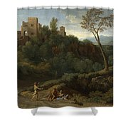 Imaginary Landscape With Buildings In Tivoli Shower Curtain