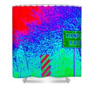 Imaginary River Crossing Shower Curtain