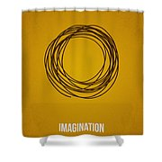 Imagination Shower Curtain by Aged Pixel