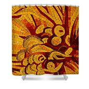 Imagination In Hot Vivid Yellows Shower Curtain