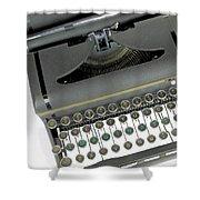 Imagination Typewriter Shower Curtain