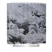 Imagine The Brave Men In These Bombers On A World War II Mission Shower Curtain