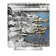 Imagined Snow At Hereford Inlet Shower Curtain