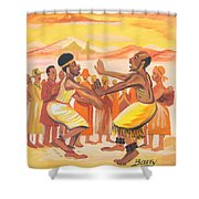 Imbiyino Dance From Rwanda Shower Curtain