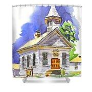 Immanuel Evangelical Lutheran Church Pilot Knob Missouri Shower Curtain