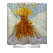Immaterial Girl Shower Curtain