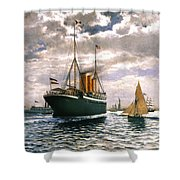 Immigrant Ship, 1893 Shower Curtain