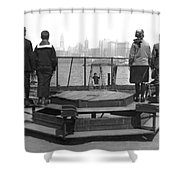 Immigrants At Ellis Island Shower Curtain