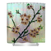 Immortal Almond  Shower Curtain