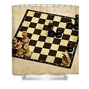 Immortal Chess - Anand Vs Topalov 2005 Shower Curtain