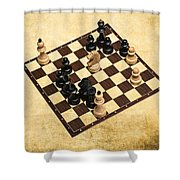 Immortal Chess - Byrne Vs Fischer 1956 Shower Curtain