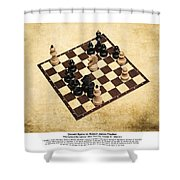 Immortal Chess - Byrne Vs Fischer 1956 - Moves Shower Curtain