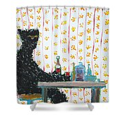 Immutable Cause And Adamant Consequence Shower Curtain