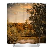 Impending Autumn Shower Curtain