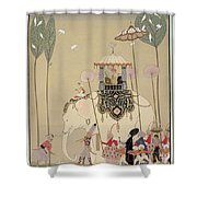 Imperial Procession Shower Curtain by Georges Barbier
