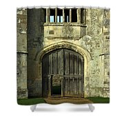 Imposing Front Door Of Titchfield Abbey Shower Curtain