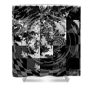 Impossible Reflections B/w Shower Curtain
