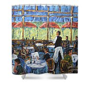 Impresionnist Cafe By Prankearts Shower Curtain