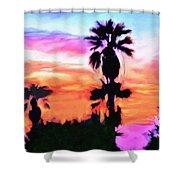 Impression Desert Sunset V2 Shower Curtain